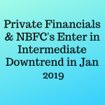 Private Financials & NBFCs Enter in Intermediate Downtrend in Jan 2019